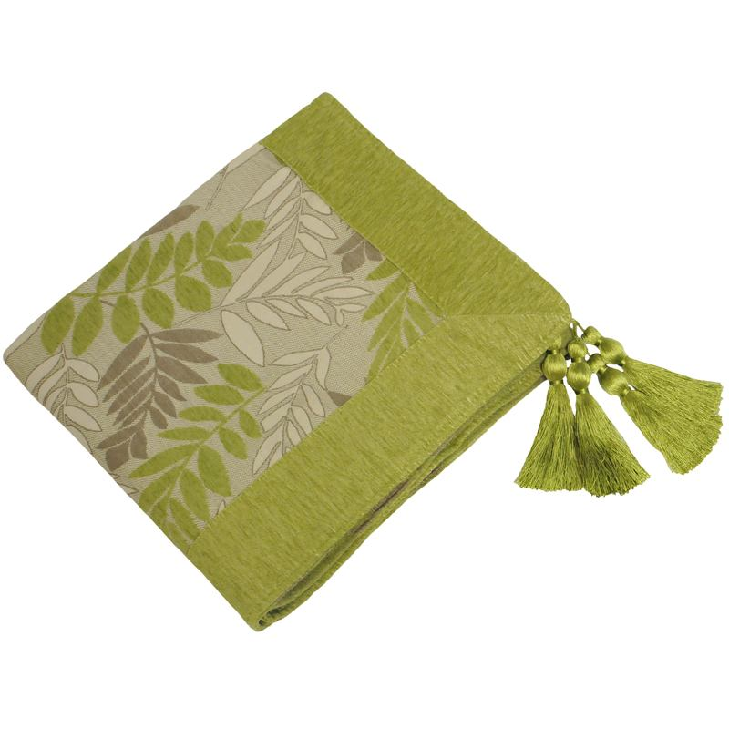 Riva Cushions And Throws Fern Throw Green Picture