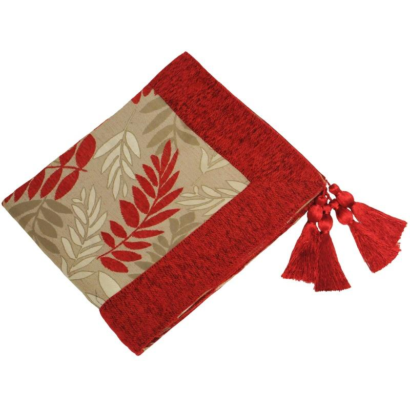 Riva Cushions And Throws Fern Throw Red Picture