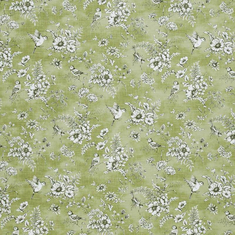 Roll End Fabrics Finch Toile Roll End 1.5m Willow Picture