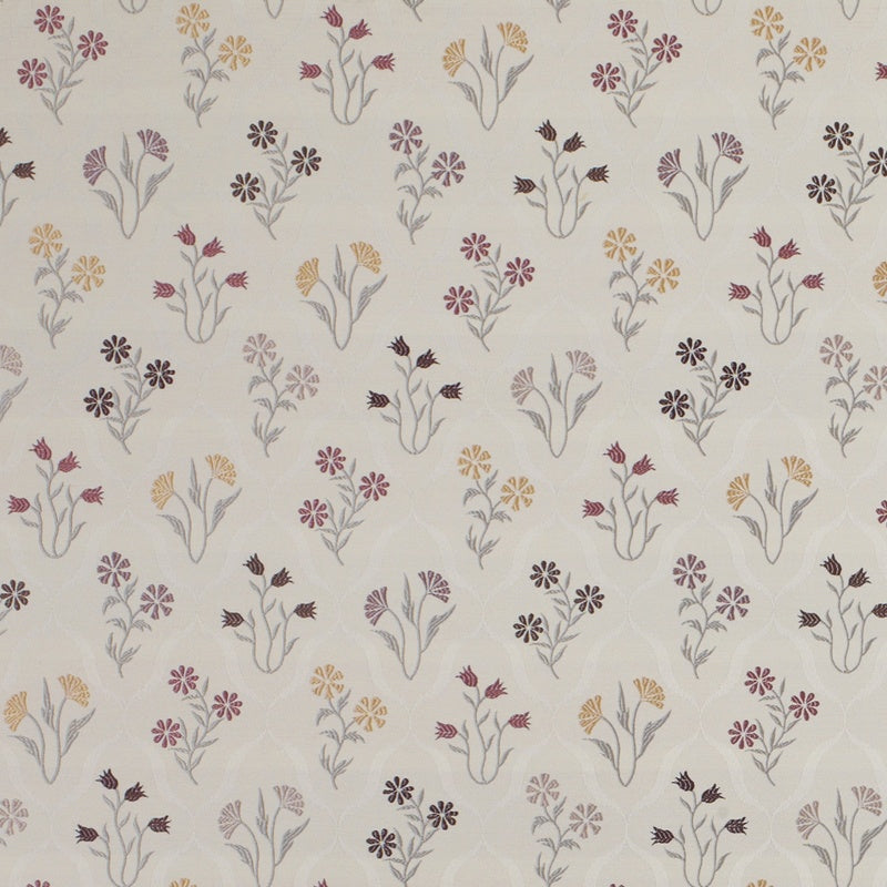 Fryetts Fabrics Fleur Curtain Fabric Berry Picture