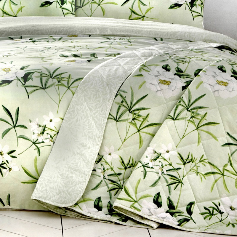 J Rosenthal Cushions And Throws Florence Bedspread Green Picture