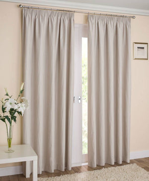 Galaxy Ready Made Blockout Lined Curtains Cream