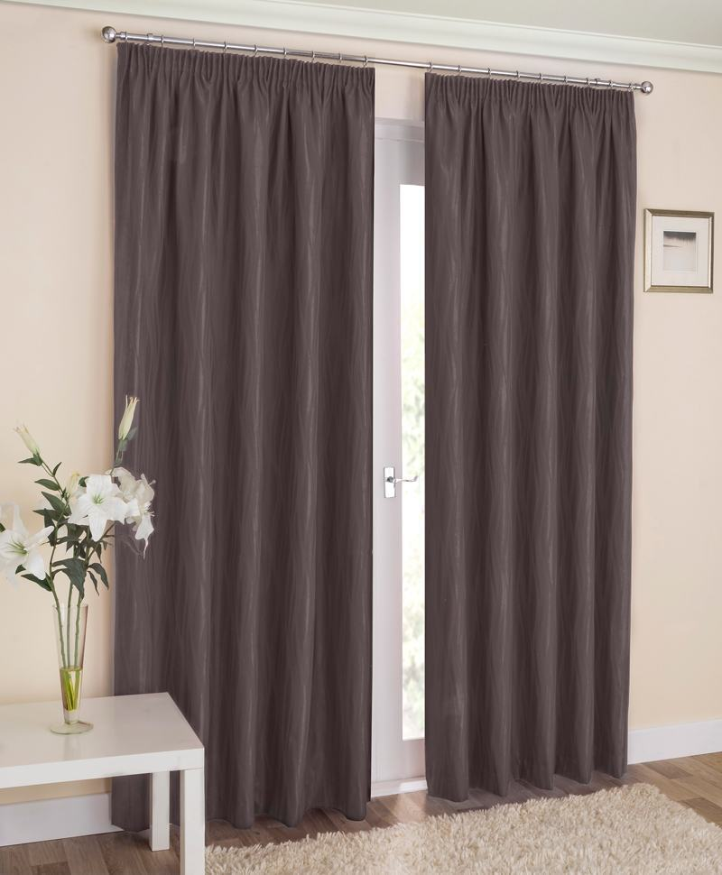 Tyrone Ready Made Curtains Galaxy Ready Made Blockout Lined Curtains Grey Picture