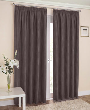 Galaxy Ready Made Blockout Lined Curtains Grey