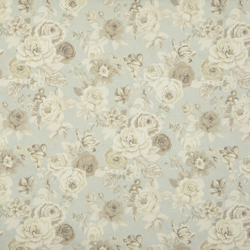 Clarke And Clarke Fabrics Genevieve Curtain Fabric Mineral Picture