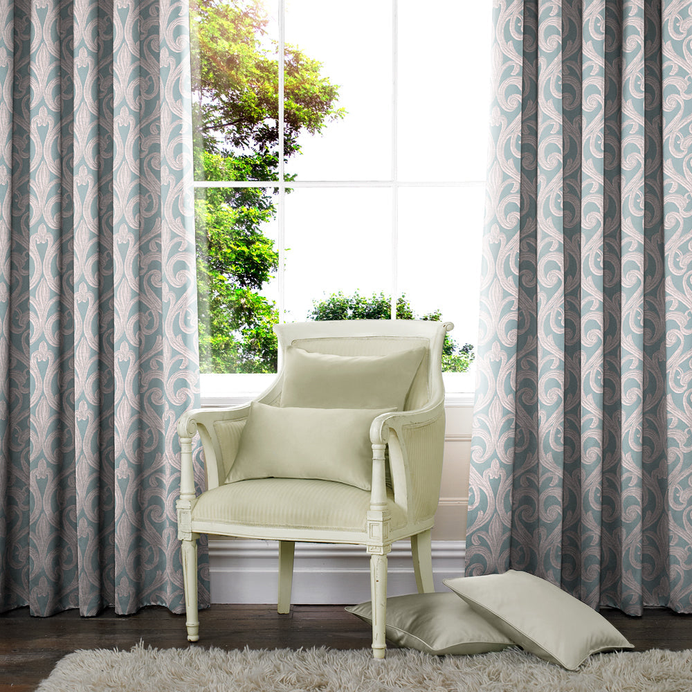 Belfields Made to Measure Curtains  Della Made to Measure Curtains Azure