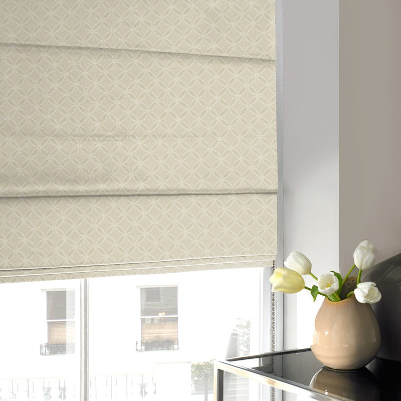 Gordon John Blinds Geometric Roman Blind Natural Picture