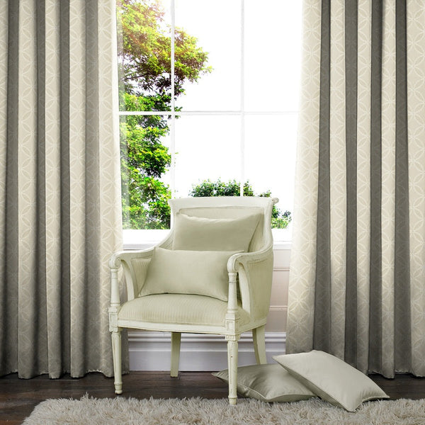 Geometric Made to Measure Curtains Natural