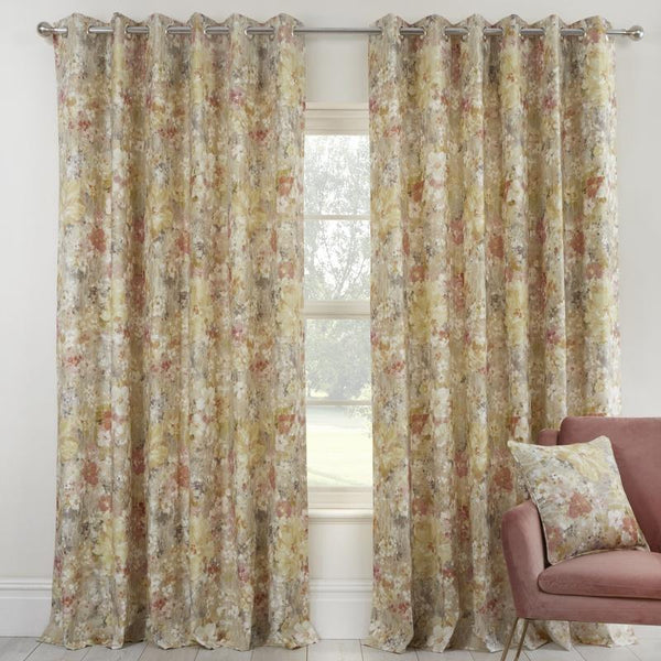 Prestigious Textiles - Giverny Ready Made Eyelet Curtains Sienna