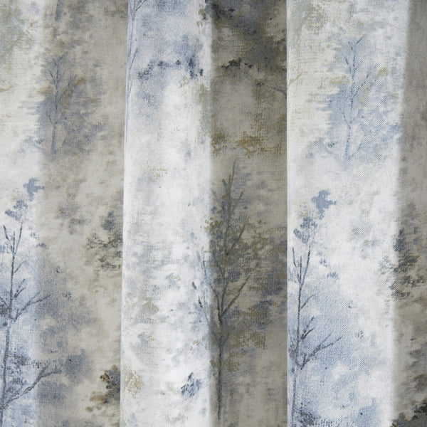 Prestigious Textiles - Woodland Ready Made Lined Curtains Blue