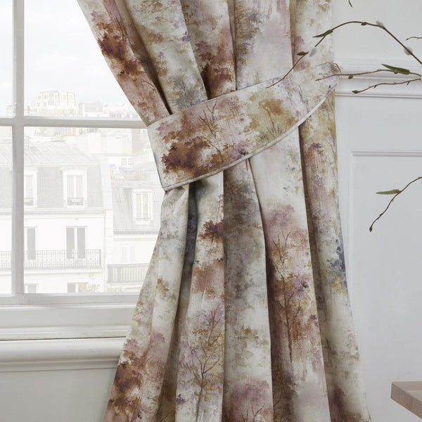 Prestigious Textiles - Woodland Ready Made Lined Curtains Blush