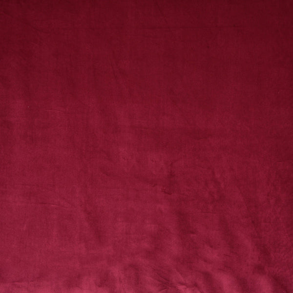 Glamour Velvet Curtain Fabric Cranberry