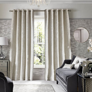 Kylie Minogue - Grazia Eyelet Curtains Oyster