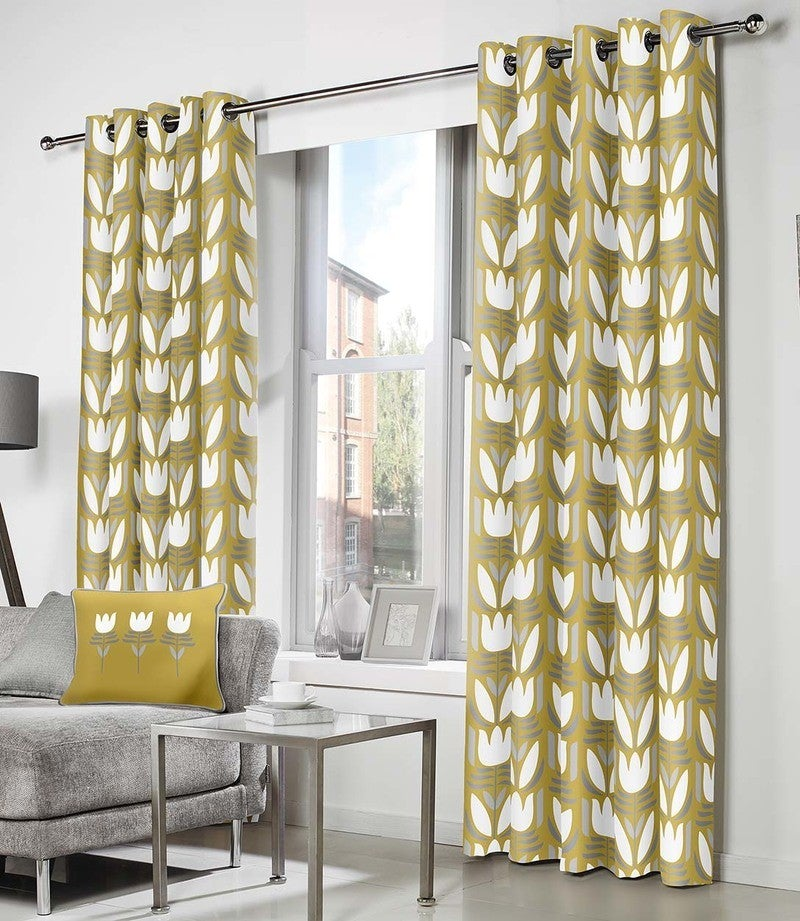 J Rosenthal Ready Made Curtains Haldon Ready Made Eyelet Curtains Ochre Picture