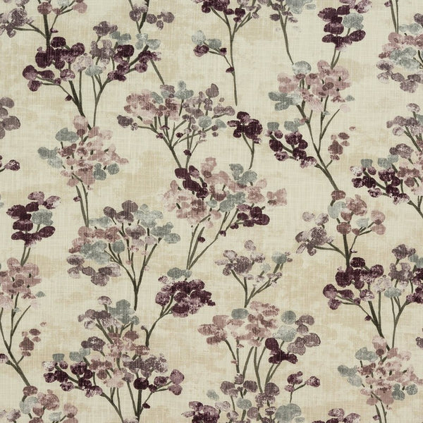 Hana Curtain Fabric Heather