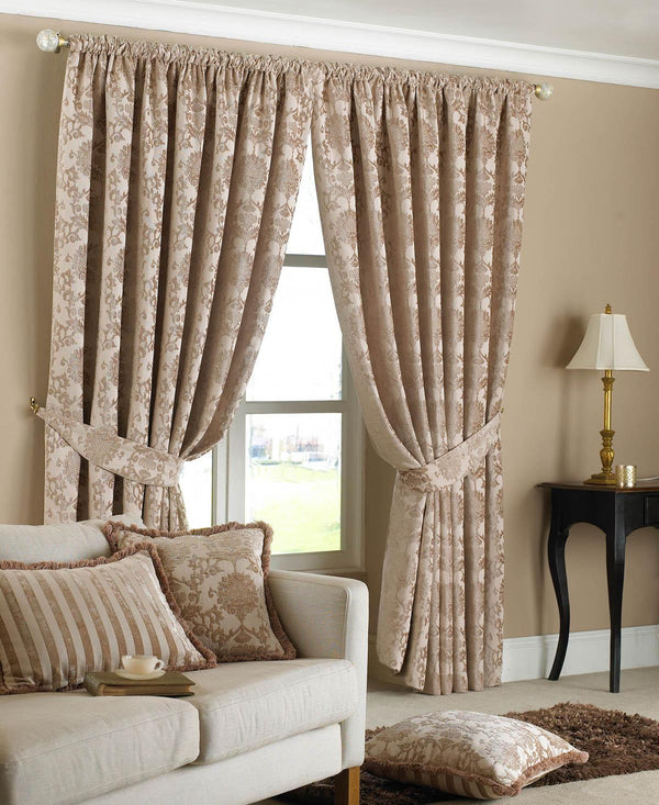 Hanover Ready Made Curtains Beige