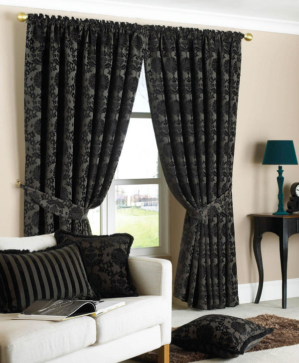 Hanover Ready Made Curtains Black