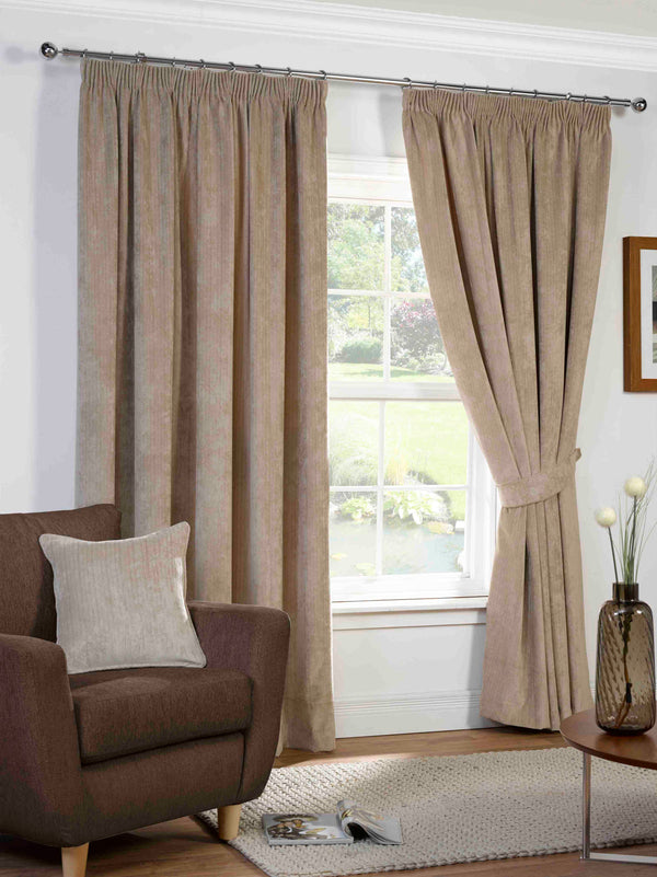 Harper Ready Made Lined Curtains Stone