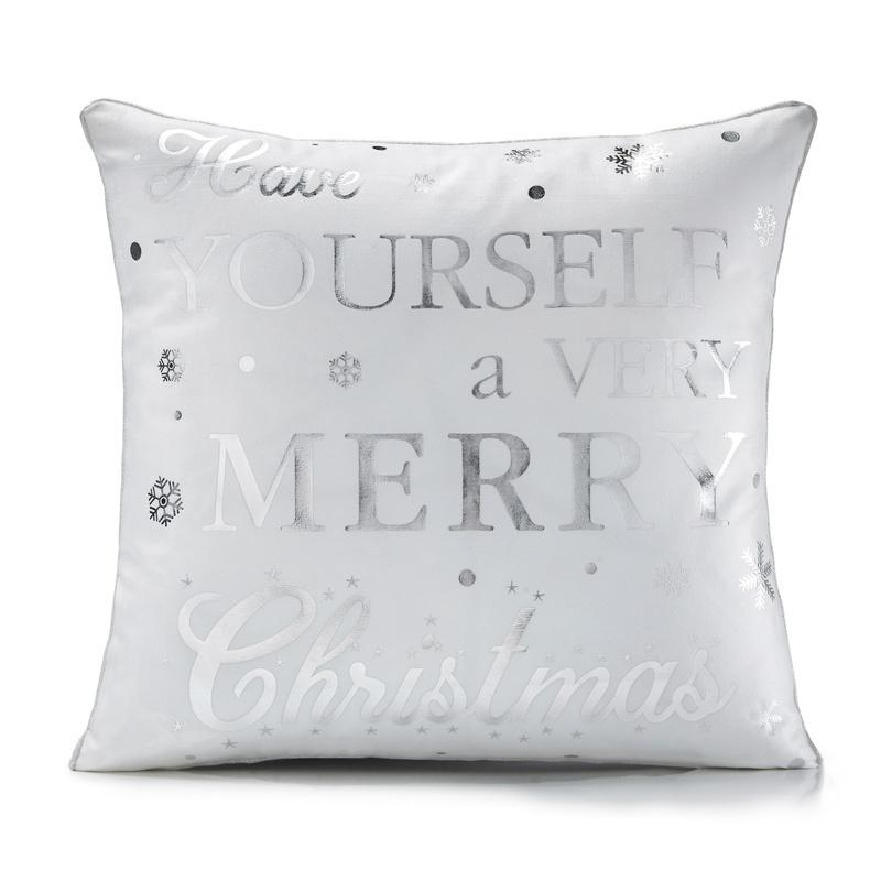 """Have Yourself Cushion Cover 18"""" x 18"""" White"""