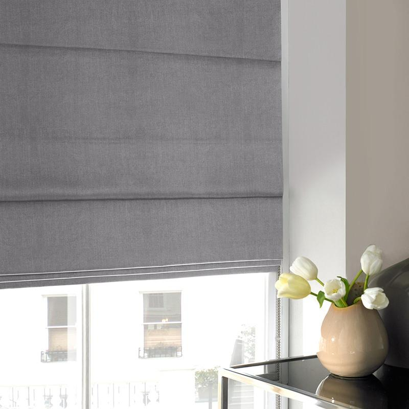 Gordon John Blinds Heavy Weave Roman Blind Grey Picture