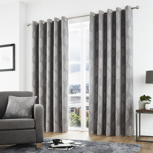 Helsinki Ready Made Eyelet Curtains Graphite