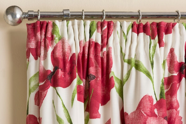 Henley Ready Made Interlined Curtains Red