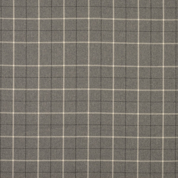 Heritage Check Curtain Fabric Grey
