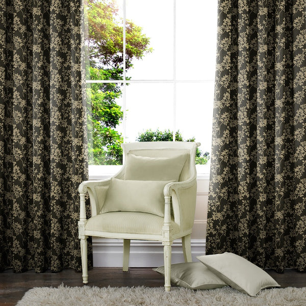 Moria Made to Measure Curtains Ebony