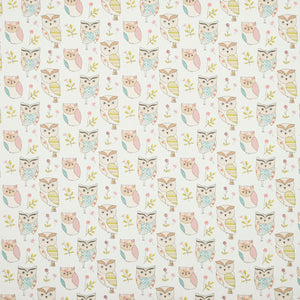Hoot Curtain Fabric Sage