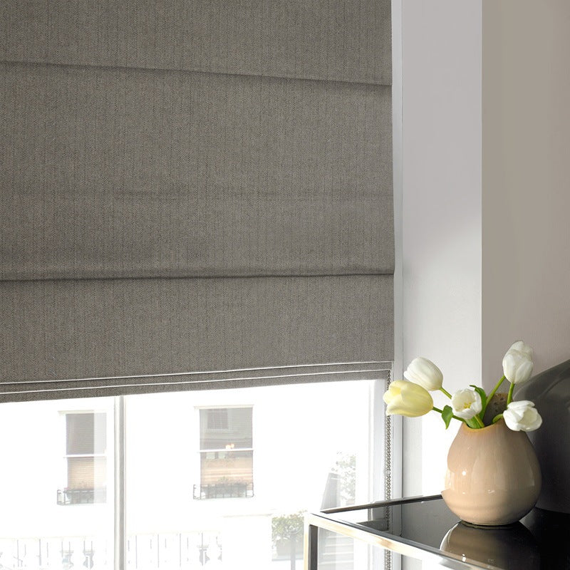 Illuminate Blinds Howey Roman Blind Charcoal Picture