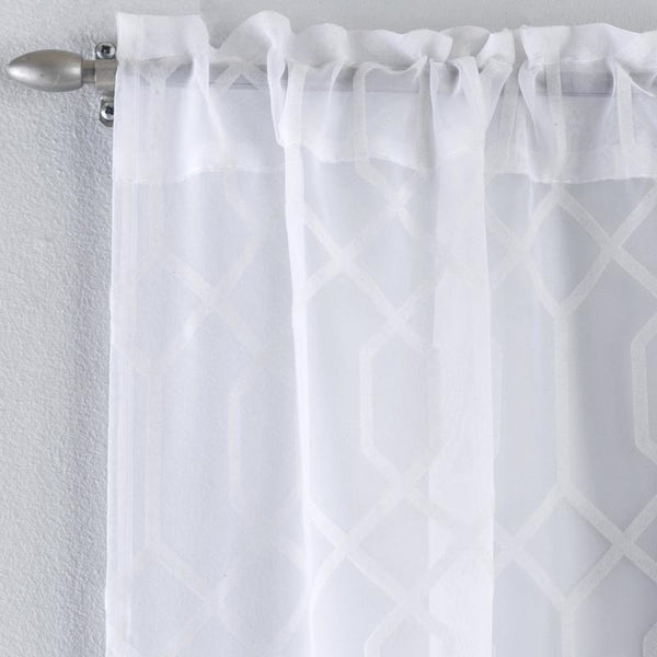 Hoxton Voile Panel White