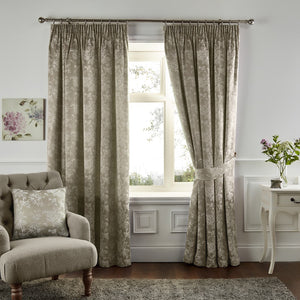Ilsa Fully Lined Ready Made Curtains Natural