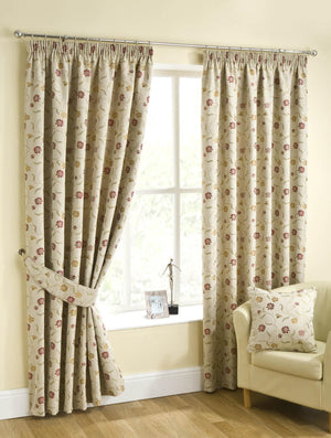 Isla Ready Made Lined Curtains Chintz