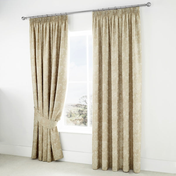 Jasmine Ready Made Lined Curtains Champagne