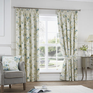 Jeannie Ready Made Lined Curtains Duckegg
