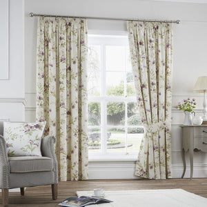 Jeannie Ready Made Lined Curtains Heather