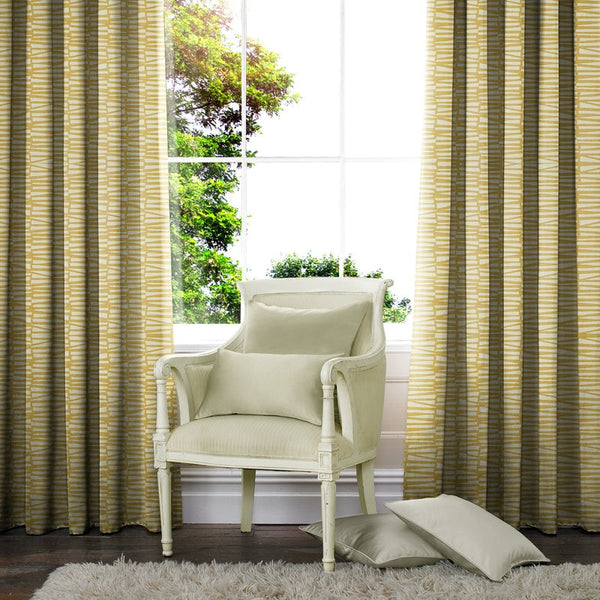 Jensen Made to Measure Curtains Ochre