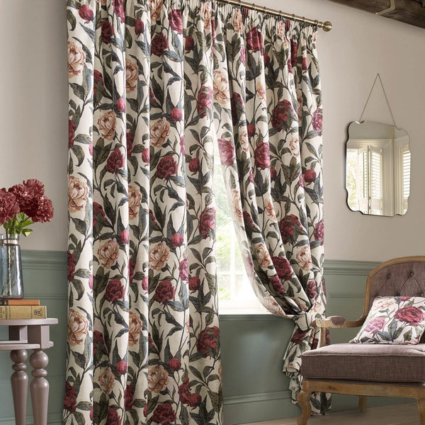 Joanne Ready Made Lined Curtains Vintage