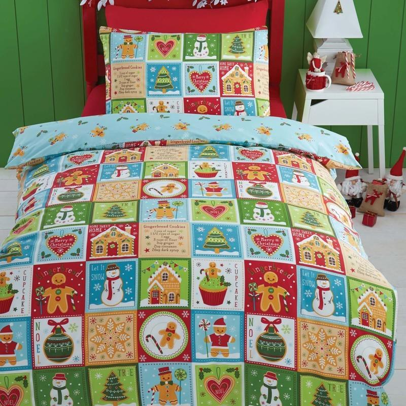 Portfolio Home Bedding  Jolly Gingerbread Christmas Bedding Set Multi