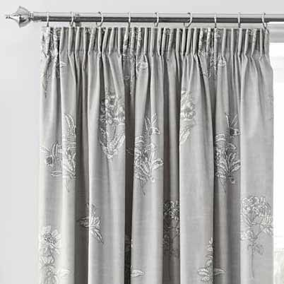 Flora Ready Made Lined Curtains Dove