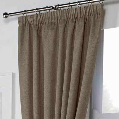Leighton Ready Made Lined Curtains Mocha