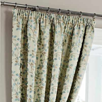 Oakhurst Ready Made Lined Curtains Duck Egg