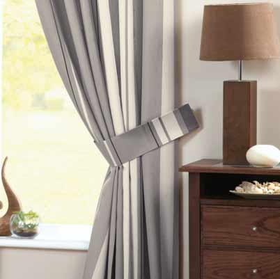 Whitworth Ready Made Lined Eyelet Curtains Charcoal