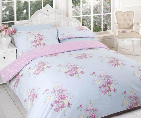 Kate Printed Duvet Set Blue
