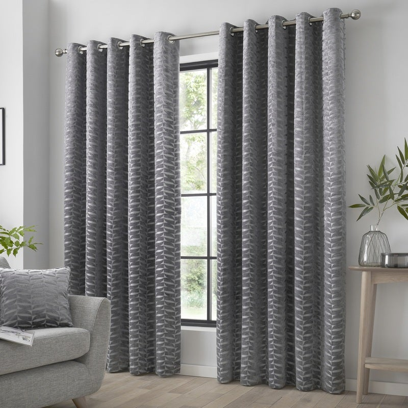 J Rosenthal Ready Made Curtains Kendal Ready Made Eyelet Curtains Charcoal Picture