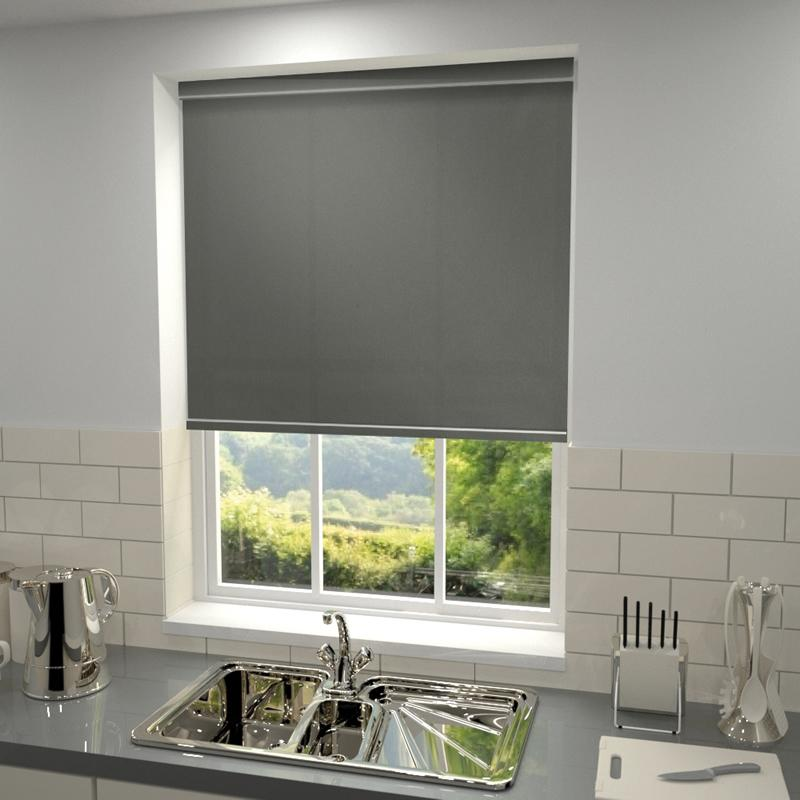 Decora Blinds Kensington Plain Roller Blind Rock Picture