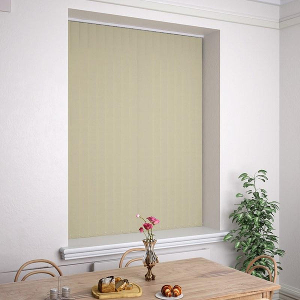 Kensington Plain Vertical Blind Beige