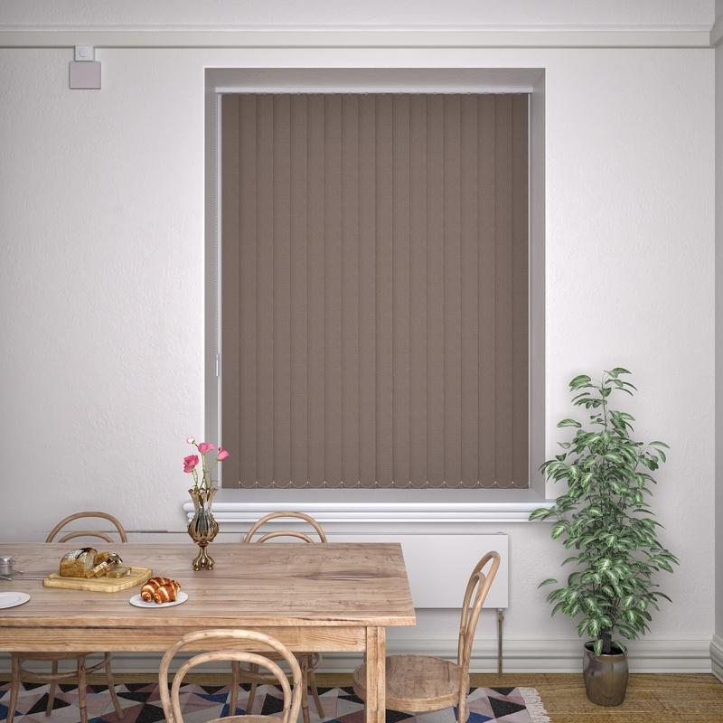 Kensington Plain Vertical Blind Havana