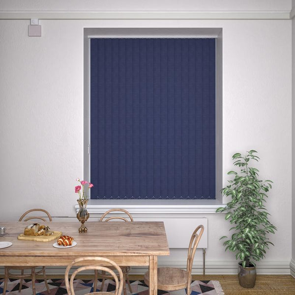 Kensington Plain Vertical Blind Indigo