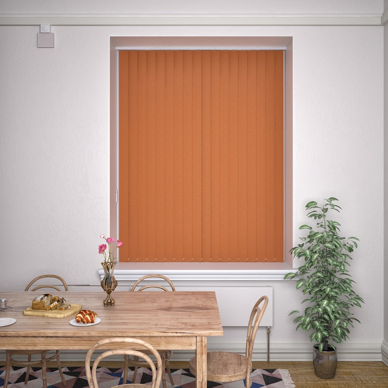 Decora Blinds Kensington Plain Vertical Blind Tango Picture